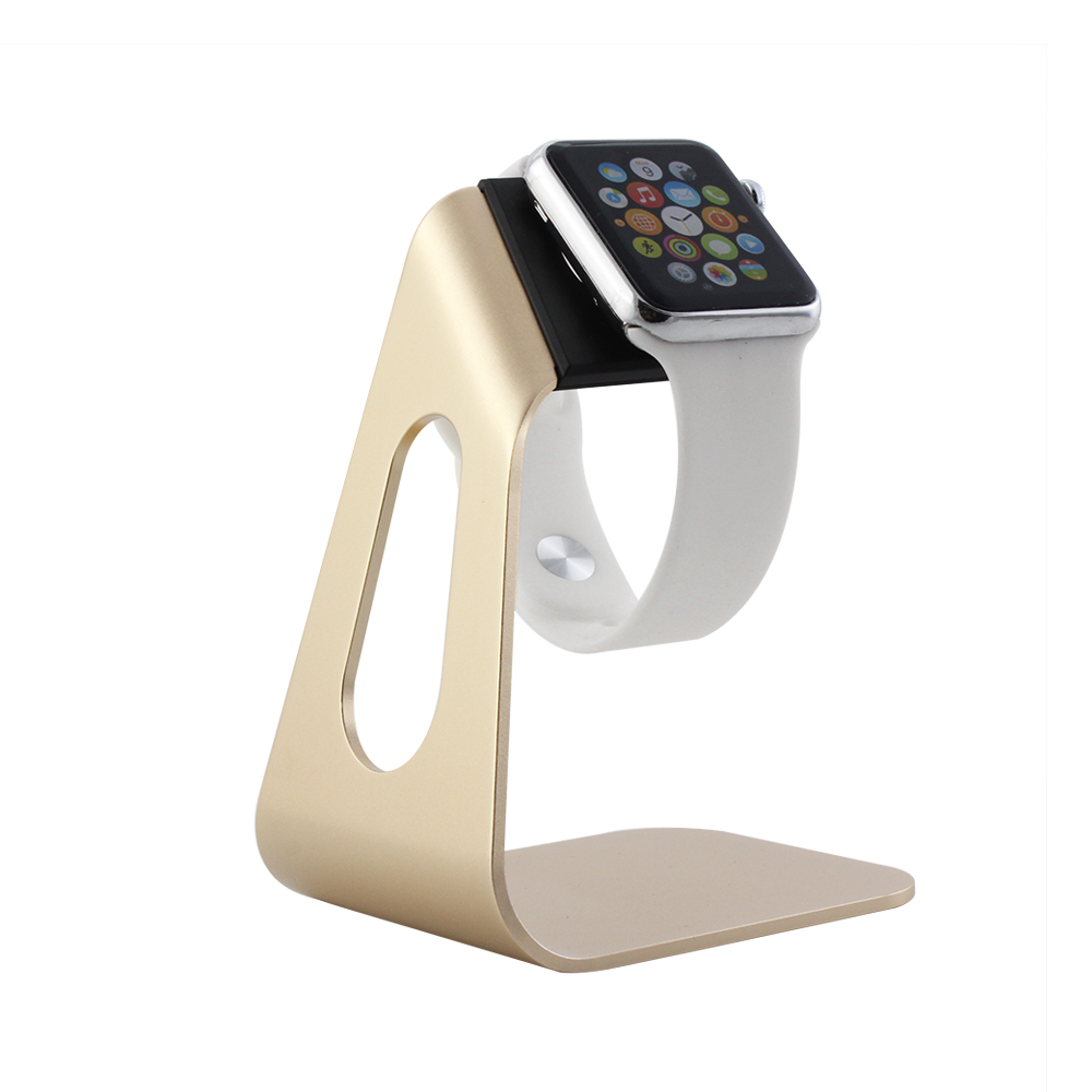 Luxury Aluminum Charging Stand Watch Holder Display Keeper For Apple Watch iWatch Black Gold Wholesale(China (Mainland))