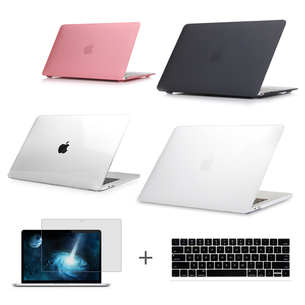 For New MacBook Pro 13 15 Case 2017 model A1706 A1707 with touch Bar & A1708 without touch bar Clear Crystal Matte Hard Case