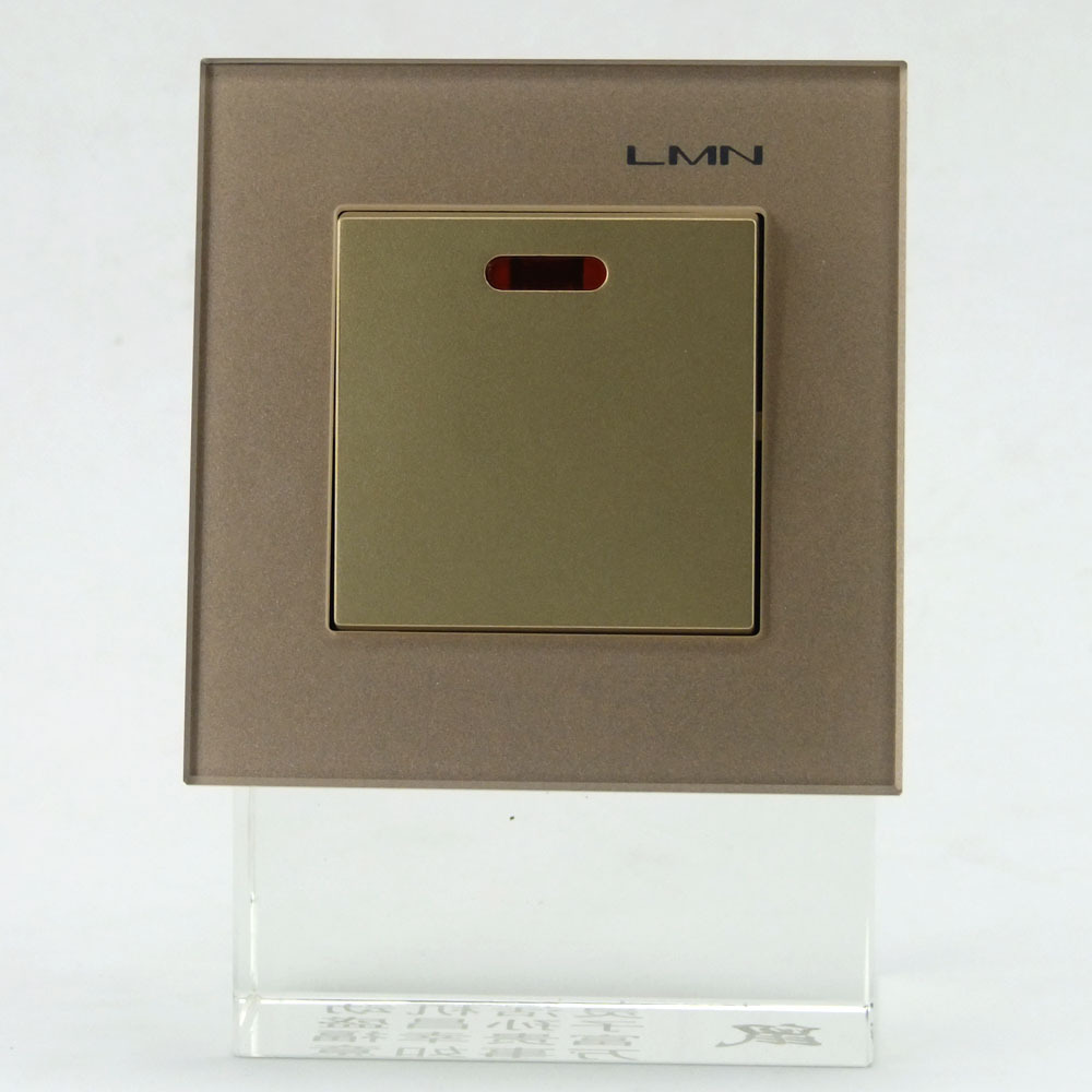 Wall Light Switches Us : LMN Push Button wall Switch interruptor Crystal Gold Crystal Glass Panel Manufacturer of Wall ...