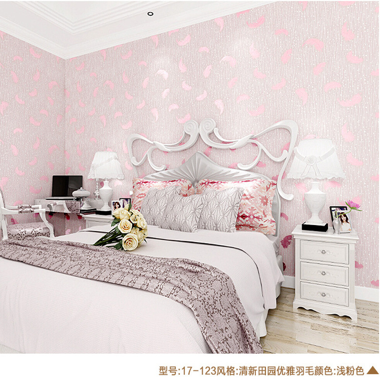 Pastoral wallpaper roll natural embossed wallpaper floral for Home decorations with paper