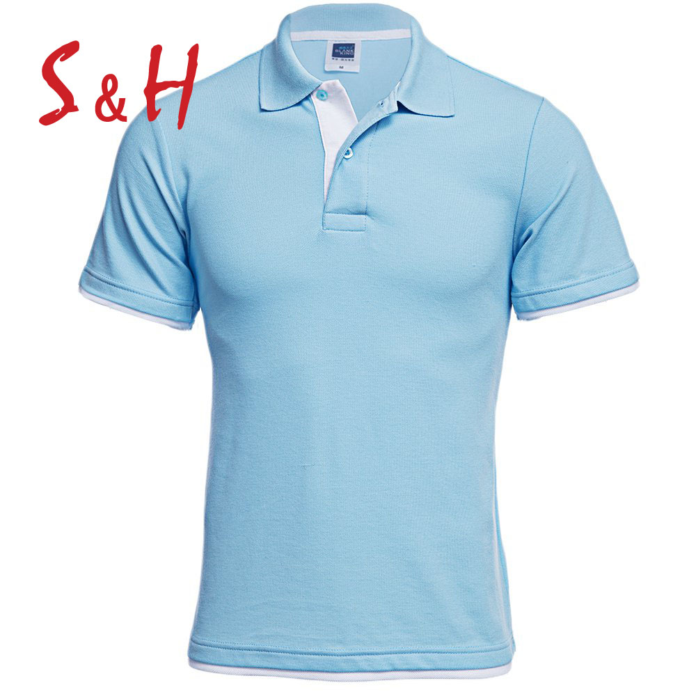 2016 New Men's Brand Polo Shirt Men Polos Cotton Turn-Down Collar Short Sleeve Color Block Sports jerseys Tennis Men Polo Shirt(China (Mainland))