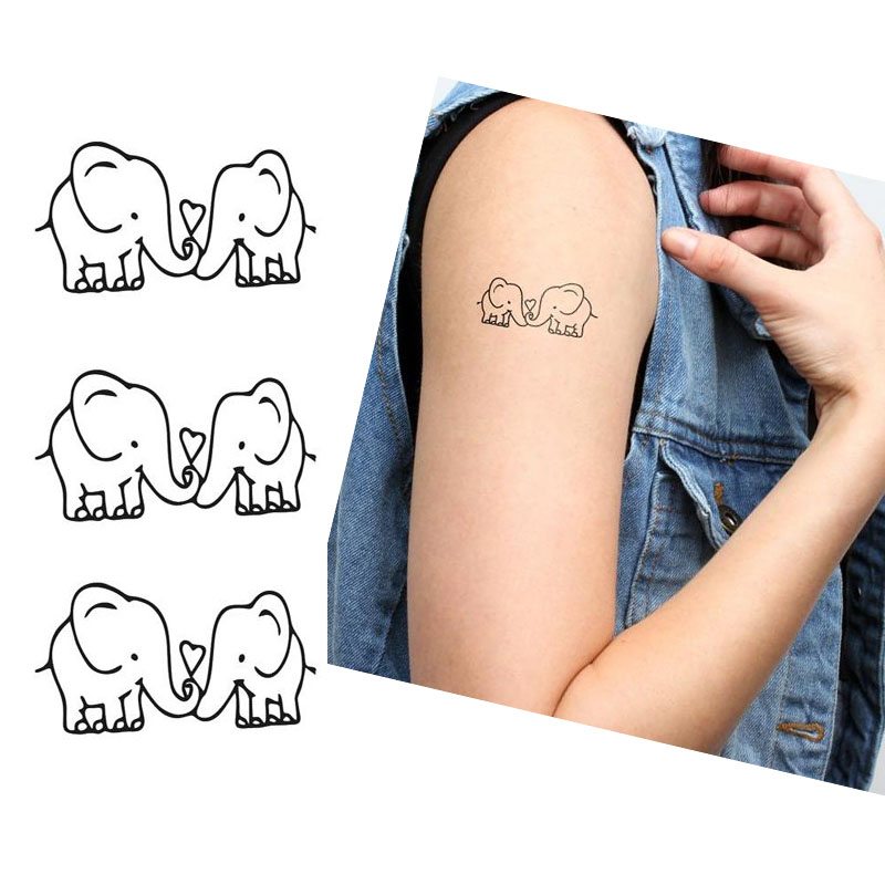 10pcs cute elephant waterproof temporary tattoos sticker for Temporary elephant tattoo
