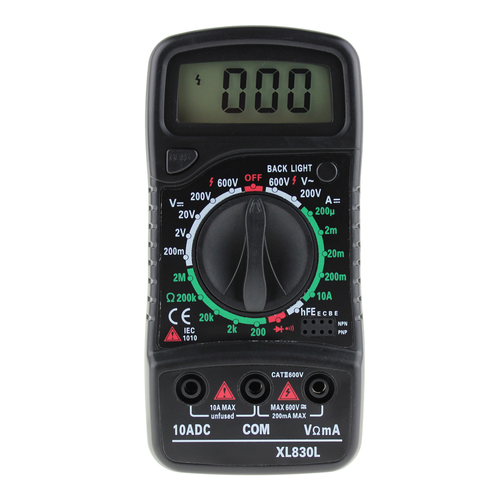 Multimeter For Home : Lcd digital multimeter voltmeter ammeter ac dc ohm volt