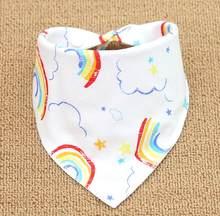 Baberos de bebé para niños niñas Bandana babero Burp paño estampado de dibujos animados triángulo algodón bufanda de bebé Collar de comida accesorios de alimentación de bebé(China)
