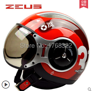 ZEUS 218C open face 3/4 motorcycle motorbike Casco Capacete helmet, , Jet Vintage retro Momo Style, ECE - VECCHIO MOTORCYCLE SUPPLIES store