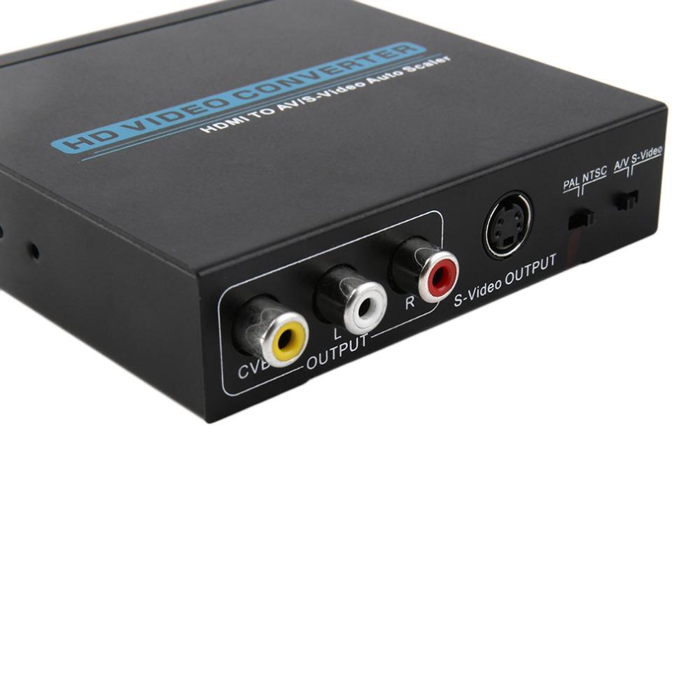 1080P HDMI to AV/S-Video Scaler Converter Adapter for HDTV +US Power Supply(China (Mainland))
