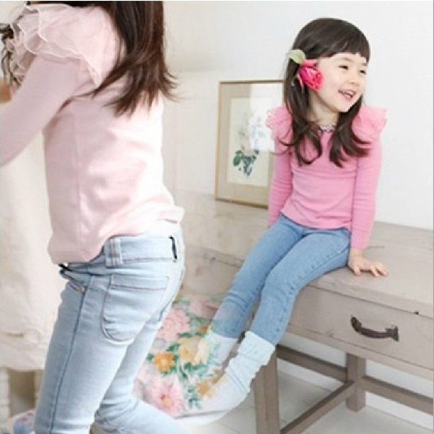 2013 Free shipping  New Arrive Girls Jeans Cute Pant Baby Girl Jeans Girls Skinny Jeans Children's tight jeans HJF-367