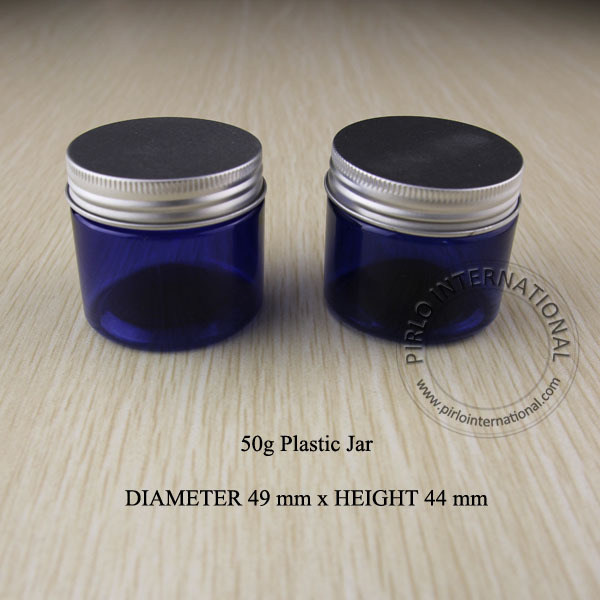 50ml Empty Cobalt Blue Plastic Jar Lid Makeup PET Bottle Pot Cosmetic Packaging Face Mask Hand Cream Containers Jars - Pirlo International Trading (Shanghai store Co., Ltd)