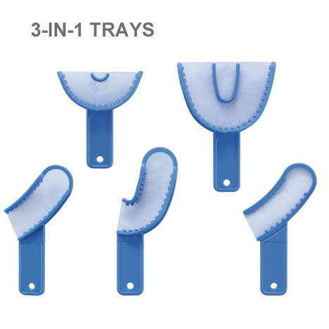 12 pcs Dental dental materials dental consumables disposable three in one tray plastic tray