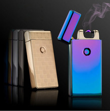 Promotional offers Pulse Arc Metal Creative Lighter USB Charging Lighter Cigarette Lighters Free Shipping