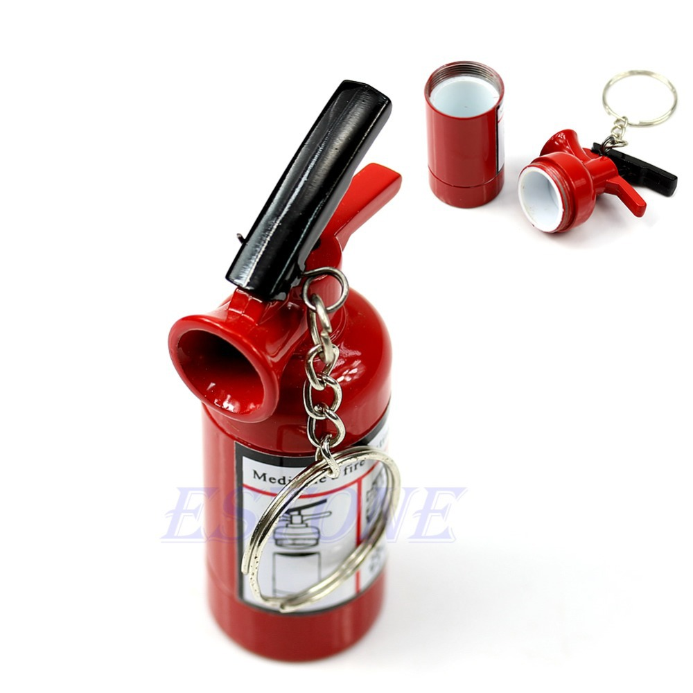 F98+Secret Safe Fire Extinguisher Shaped Stash Tin Box Pill Case Great Gift New(China (Mainland))