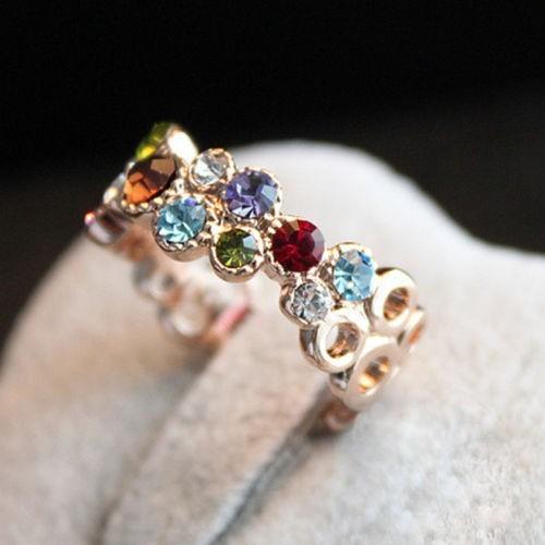 Австрийский хрусталь Stellux 18GP позолоченные цветочным узором любовь женщины леди ...