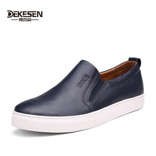 2016 New Fashion Spring and Summer Men Shoes Leather Shoes Men's Flats Shoes Low Men casual For Men Leisure Leather shoes(China (Mainland))