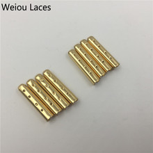 Weiou 4pcs 1 set of 3.8x22mm Shoelace Tip Aglet ends Bullet Metal Lock Clips DIY for Clothes laces Silver, Gold, GunBlack Rose(China)