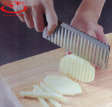 Potato Wavy Edged Knife Stainless Steel Kitchen Gadget Vegetable Fruit Cutting Peeler Cooking Tools kitchen knives Accessories(China (Mainland))