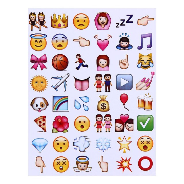 Popular Emoji Stickers Fashion Cute Novelty Emoji Stickers Paster for Home Decoration Phone Decoration Multi-colors for choose