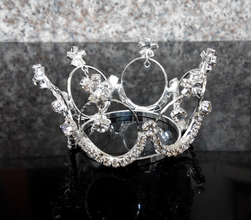 Baby Tiara Rhinestone Mini Crown Round Newborn Photo Op Wedding(China (Mainland))