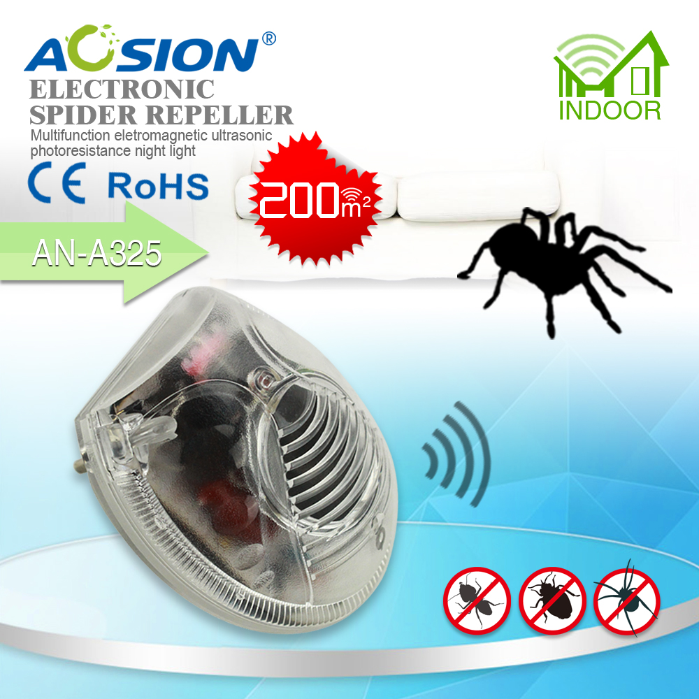 Aosion Home pest control reject Electromagnetic waves+Ultrasonic with night light mosquitoes mouse rats repeller(China (Mainland))