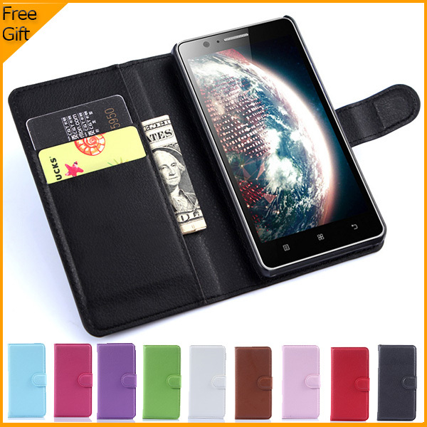 2015 Luxury Wallet PU Leather Flip Cover Case For Lenovo A536 Mobile Phone Case Back Cover With Card Holder Stand & Gift(China (Mainland))