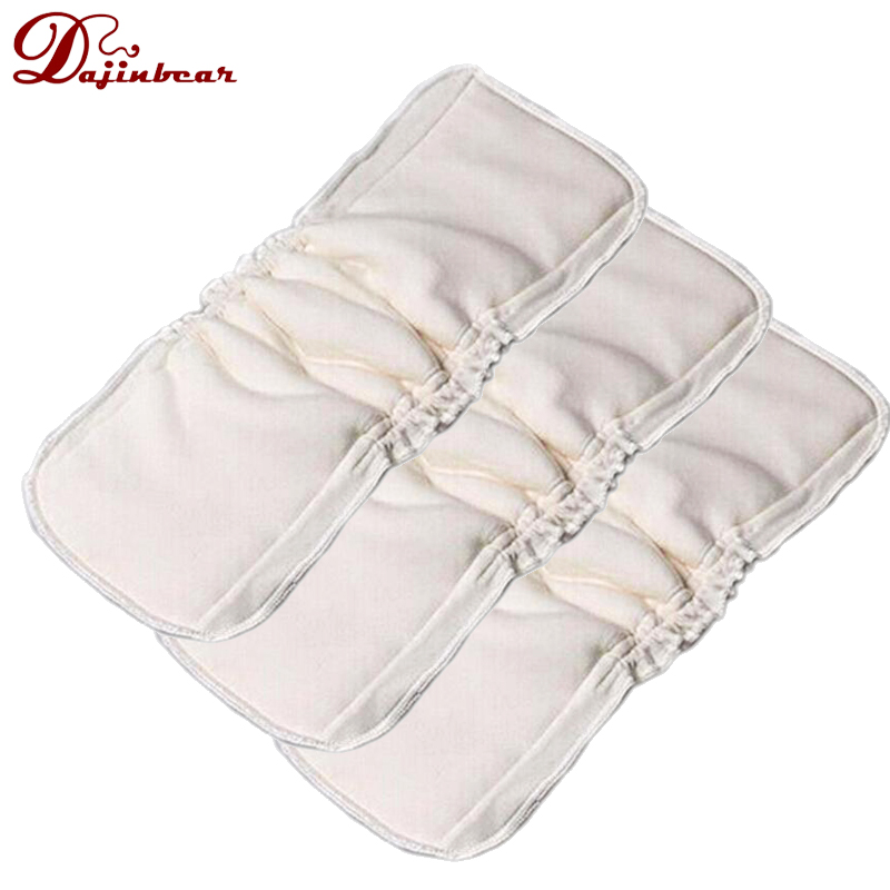 3 PCS/ Pack 5 Layers Bamboo Charcoal Cotton cloth diapers Inserts Nappy changing mat Baby Diapers Reusable diaper changing pad