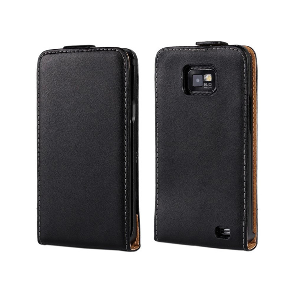 genuine leather s2 case flip cover for samsung galaxy s2