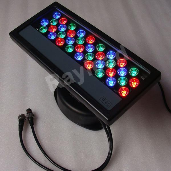 Excellent quality,EU/US plug,RGB changing,36W,waterproof,Epistar chip,led DMX512 flooding light(China (Mainland))