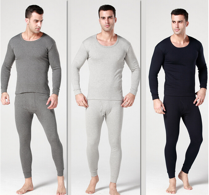 Autumn& Winter Man with thick thermal underwear suits thickening and velvet warm air underwear suits(China (Mainland))