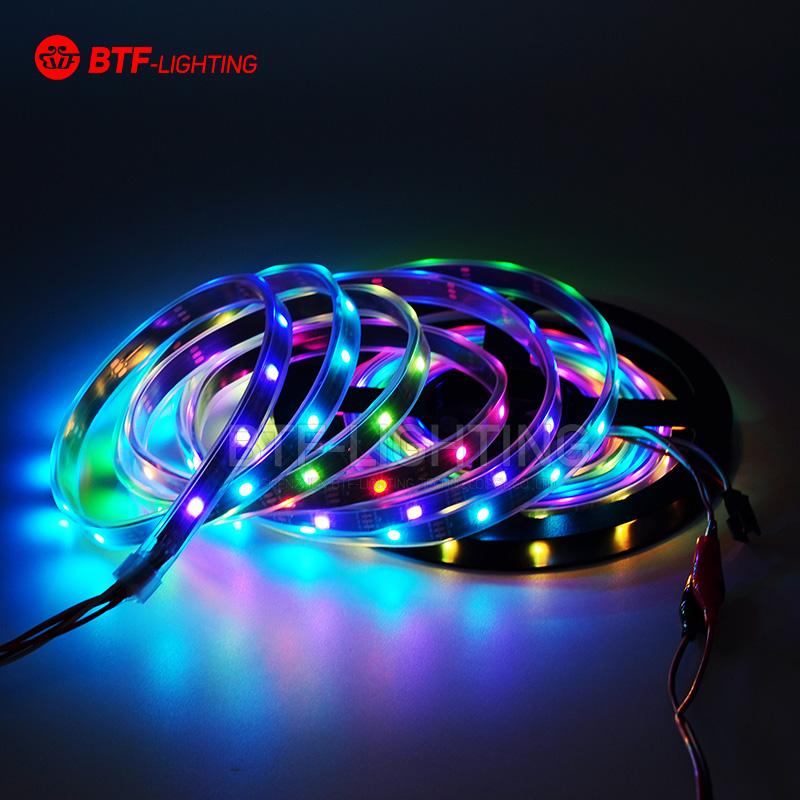 Wholesale 50m Led Strip Light 30 led/m WS2812B ws2812 2812 ic 150 SMD 5050 Dream Color tube waterproof Black PCB DC5V(China (Mainland))