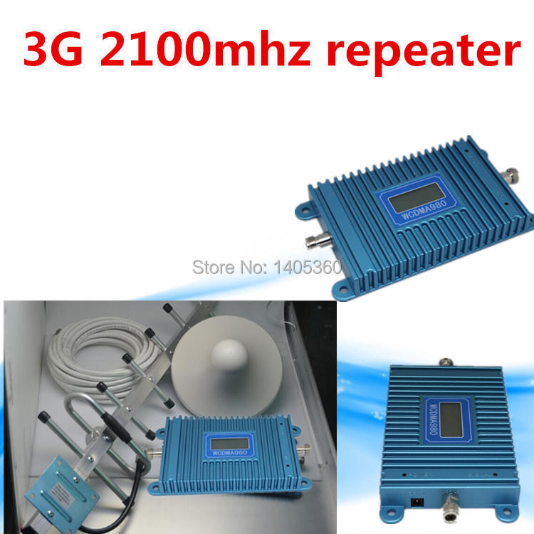 Best Price !!! Mini W-CDMA 2100 MHz 2100MHz 3G Repeater Mobile Phone 3G Signal Booster WCDMA Signal Repeater Amplifier + Cable +(China (Mainland))