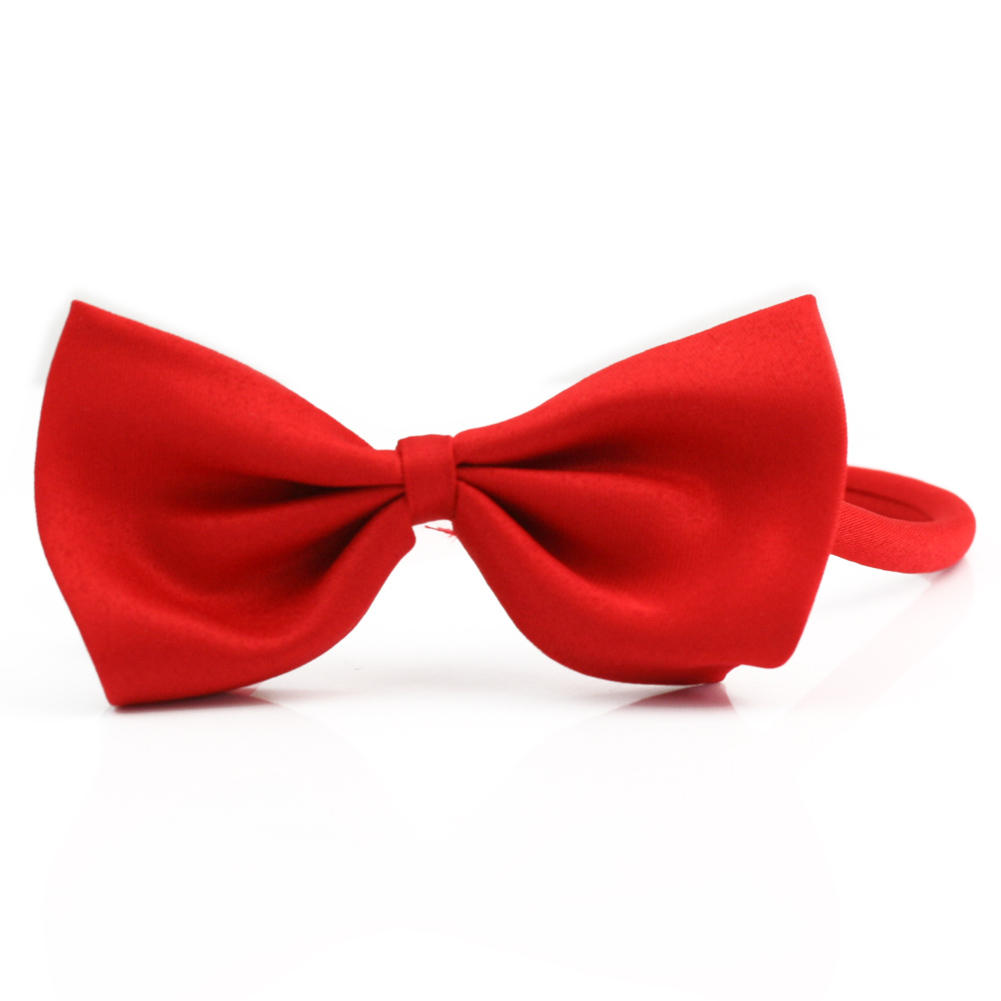 Fashion Cute Dog Puppy Cat Kitten Pet Toy Kid Red Bow Tie Adjustable Necktie Clothes Wedding Party Handsome Grooming Accessories(China (Mainland))