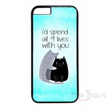 For iphone 4/4s 5/5s 5c SE 6/6s plus ipod touch 4/5/6 back skins mobile cellphone cases cover Cute Funny Cat Life Love Quote