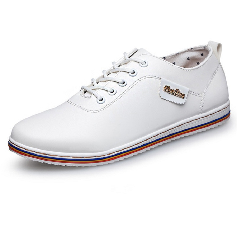 2016 new style white orange casual shoes waterproof