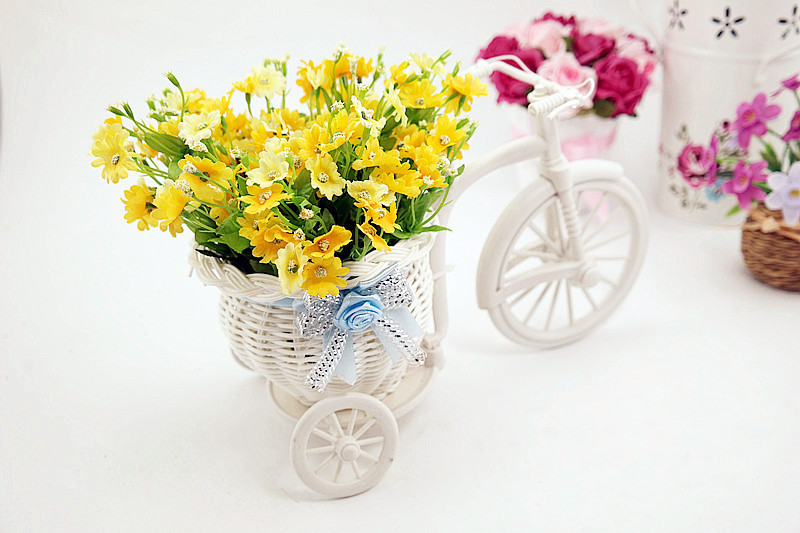 משלוח חינם,איכות קש אגרטל + פרחים מטרים סחלב פרחים מלאכותיים סט קישוט הבית FL13008