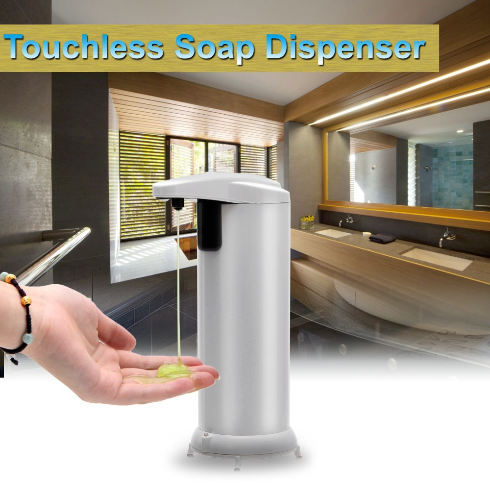 GBB Innovative Stainless Steel AutomaticTouchless Soap Dispenser Sensor Liquid Lotion Infrared Bathroom Accessories - iRulu-Net store