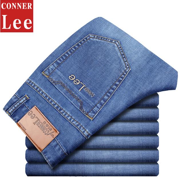 КОННЕР ЛИ 2016 Летом Модный Бренд джинсы мужчин узкие джинсы мужские джинсовые брюки ...