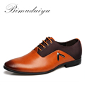 BIMUDUIYU Plus Size 6 5 12 Formal Leather Men Dress Shoes Elegant Design Quality Brand Mens