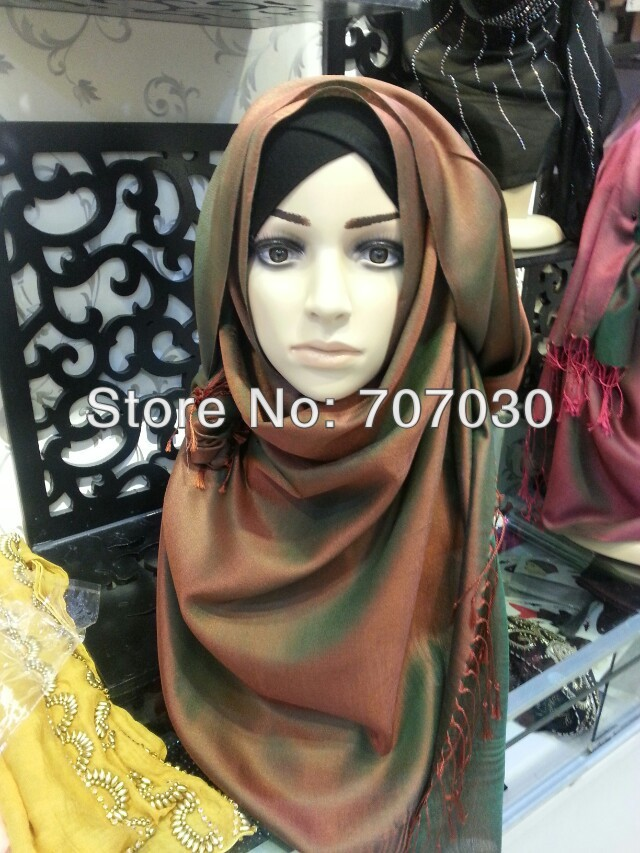 H41271 2013 free shipping latest style high quality elegant fashion ladies scarves muslim products(China (Mainland))