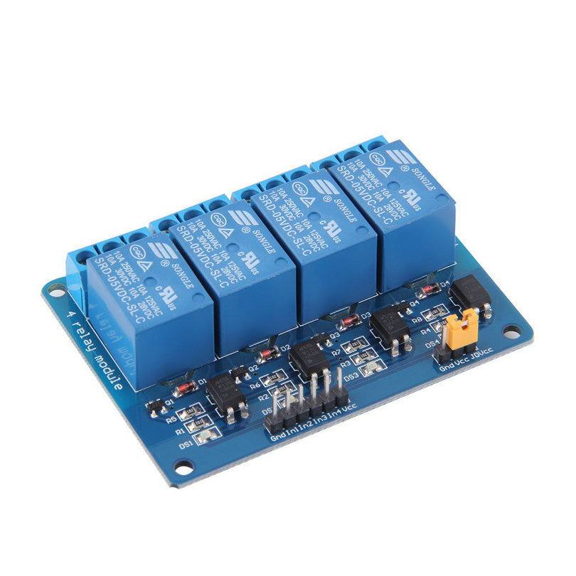 image for Hot New  1pc 4 Channel 5V Relay Module Board Shield For PIC AVR DSP AR
