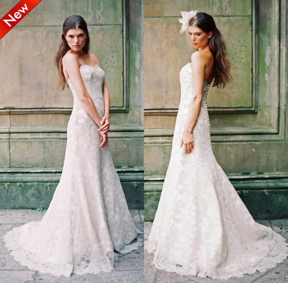Real weddding dresses 2014 new cheap long best selling for Sell vintage wedding dress