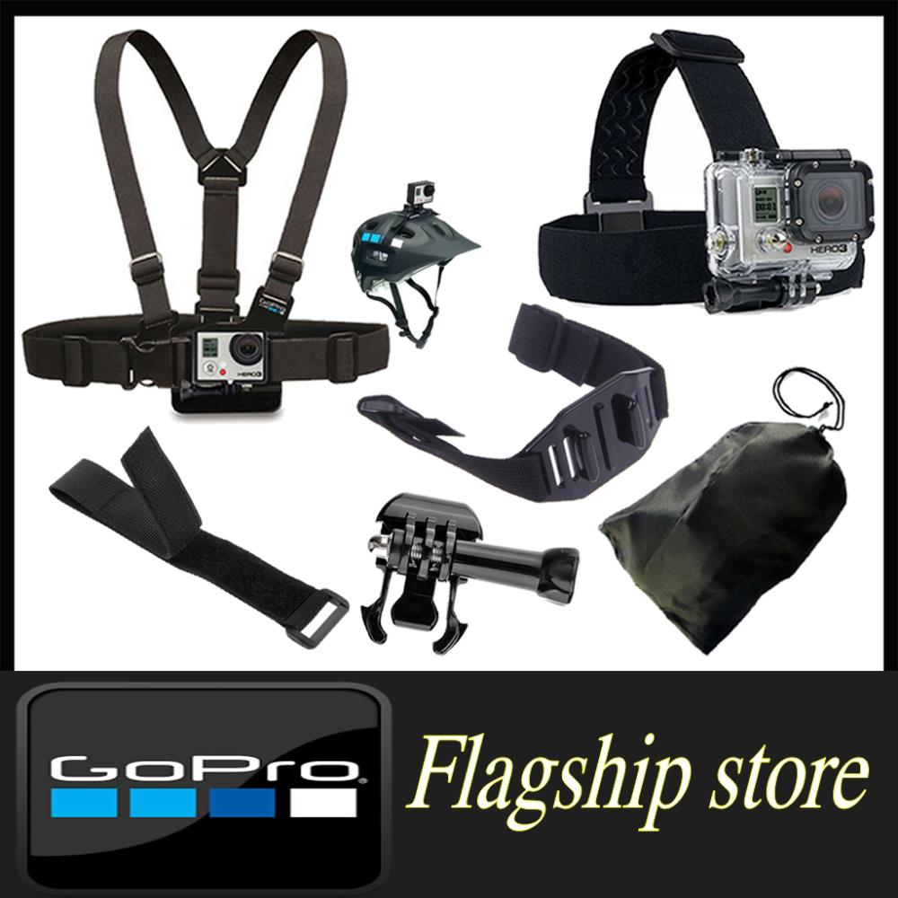 Sj4000 accessories Chest Belt+WiFi Remote Wrist Belt+Head Strap Mount+Helmet Strap+BaseScrew+Bag Gopro Hero3 Blacak Edition - Smart Living Center store
