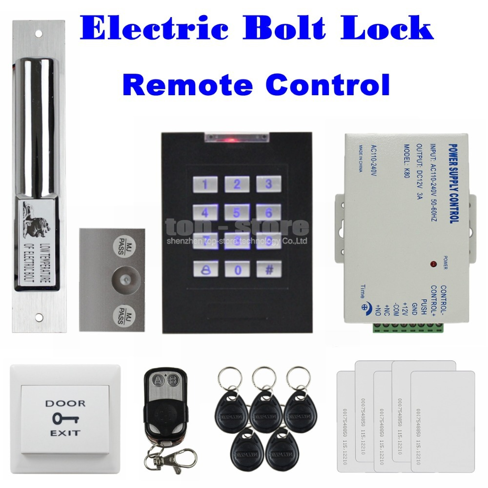 Remote Control Door Lock 125KHz RFID Reader Blue Backlight Keypad Remote Control Door Access Control Security System Kit KS160<br><br>Aliexpress