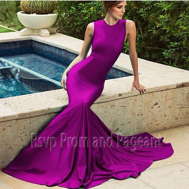 Cheap Long Purple Evening Dresses - Homecoming Prom Dresses