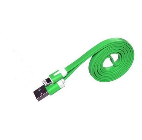 Бесплатная доставка 1 м плоским лапша красочные синхронизация данных USB зарядное устройство кабель для iPhone 5 5S 6 для IOS ...