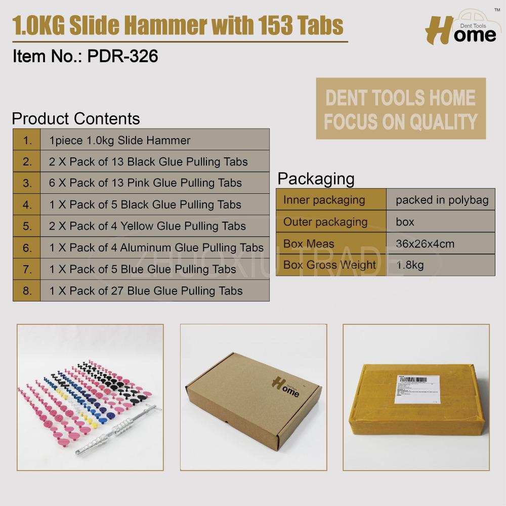 Slide Hammer Dent Puller Kit Car Paintless Dent Repair Hail Removal Kit PDR Tool PDR-326