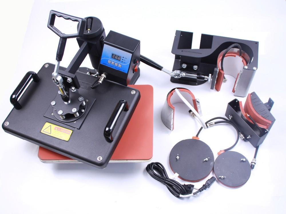 Купить 6in1 машина давления жары для Кружки, Шляпа, Пластины DX-0601 теплообмена печатная машина