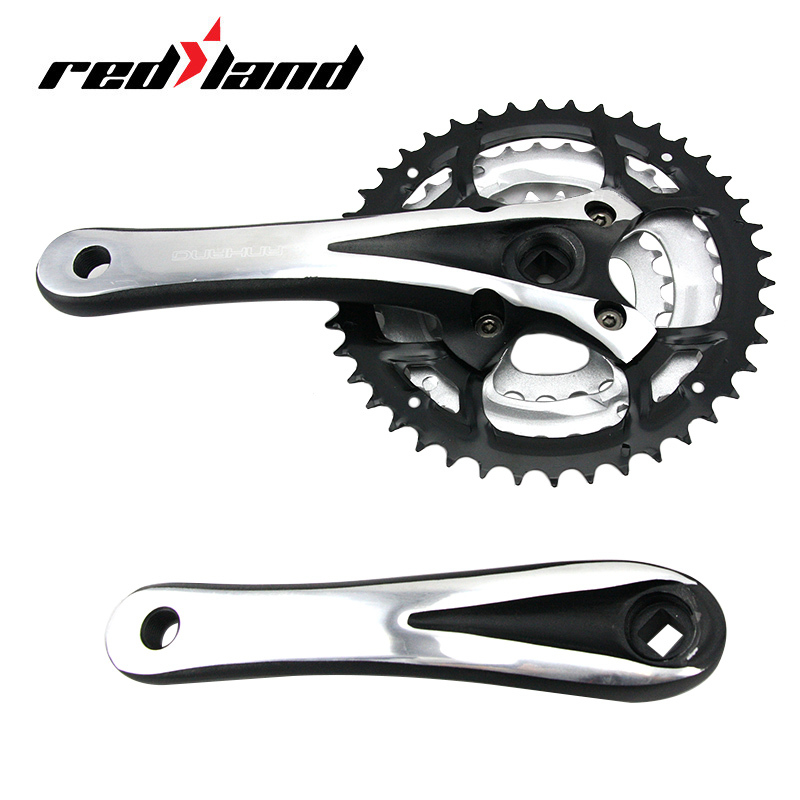 RED LAND Guarnitura MTB 24-34-42T Bright Handle Pedal Assisted Bicycle Crankset Mountain Bike Pedaleira Part Direct Selling(China (Mainland))