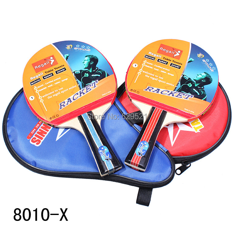Long Handle Shake-hand Table Tennis Racket Ping Pong Paddle + Waterproof Bag Pouch Drop shipping - Children Toys co., LTD store