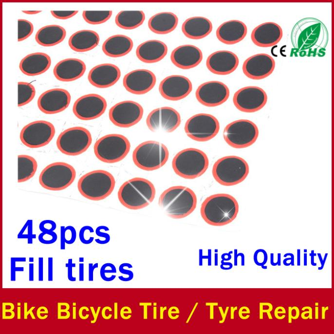 48pcs tubeless mountain bike tire repair patch management cycling mountain bike tire Film / tire maintenance free shipping(China (Mainland))
