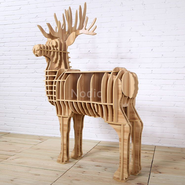Deer Puzzle Table Home Decoration,Gorgeous Animal Multi-Purpose Furniture,DIY Assembled MDF Deer Table for living room,creative(China (Mainland))