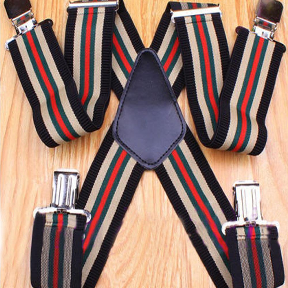 50mm Wide Mens Gentles Braces Plain Heavy Duty durable Suspender Elastic(China (Mainland))